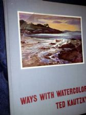 VINTAGE 1953 HB BOOK WAYS WITH WATERCOLOR TED KAUTZKY REINHOLD PUBLISHERS